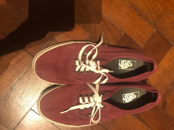 Zapatillas Vans Color Bordo