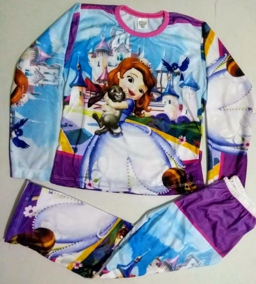 Conjunto Pijama Infantil Personagem Princesa Sofia