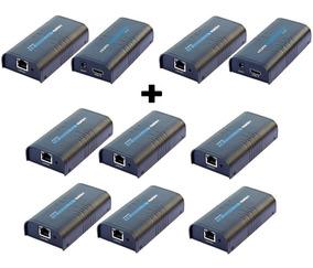 2 Kits Extensores Hdmi Até 120m Via Ip + 6 Receptores Extras