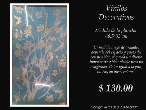 Vinilos Decorativos Arbol Espejado Con Flores Y Mariposas