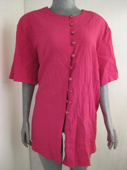 Blusa Estampada Color Rosa Talla 2x Marca Cm Shapes