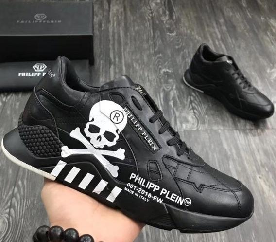 Zapatillas Philipp Plein Colores Negro Y Blanco