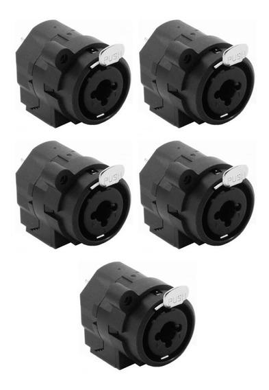 5 Plugs Conectores Combo Xlr/p10 Datalink