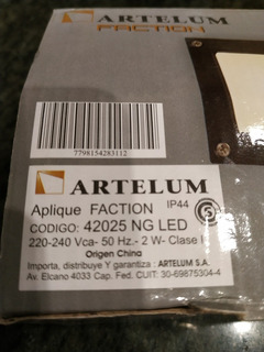 Apliques Artelum Mini Tortuga Faction Les 2 W Nuevas.