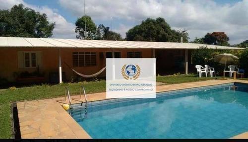 Chácara Com 5 Dormitórios À Venda, 1800 M² Por R$ 910.000,00 - Barão Geraldo - Campinas/sp - Ch0085
