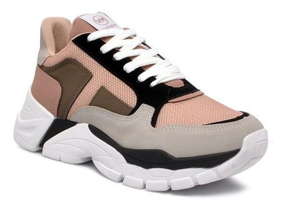 Tênis Chunky Dad Sneaker Via Marte 20-2309 Nobuck