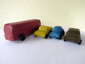 Antigo Lote De Carrinhos De Plástico Bolha Ônibus Sinca D10
