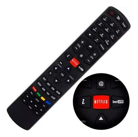 Controle Remoto Philco Smart Tv Led 3d Lcd Função Youtube