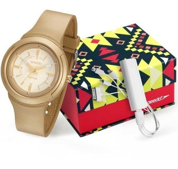 Relógio Feminino Speedo Analógico Kit 65089l0evnp1k1 Doura