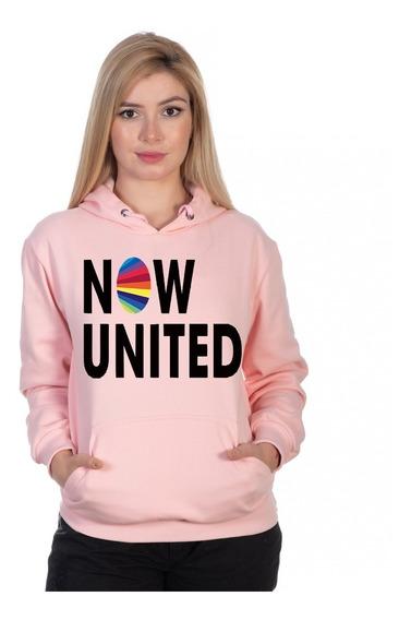 Moletom Now United Feminino Capuz Music Pop Lançamento Full