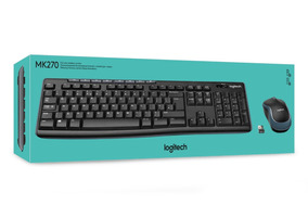 Logitech Teclado Logitech + Mouse Mk270 Wireless Usb Black