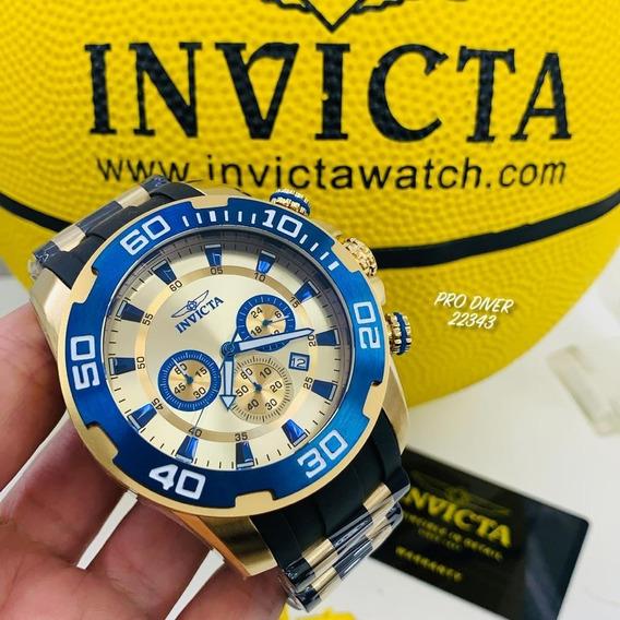 Relógio Invicta Pro Diver 22343 - Ouro 18k Original