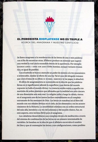 El Peronista Rioplatense No Es Triple A