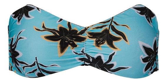 Biquíni Tomara Que Caia Parte Cima Floral Azul Hope Hr60047