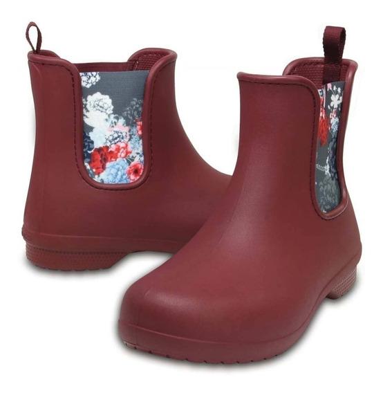 Crocs Mujer Freesail Chelsea Boot - Garnet