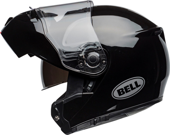 Capacete Bell Str Modular Robocop Fibra Vidro Preto Brilho