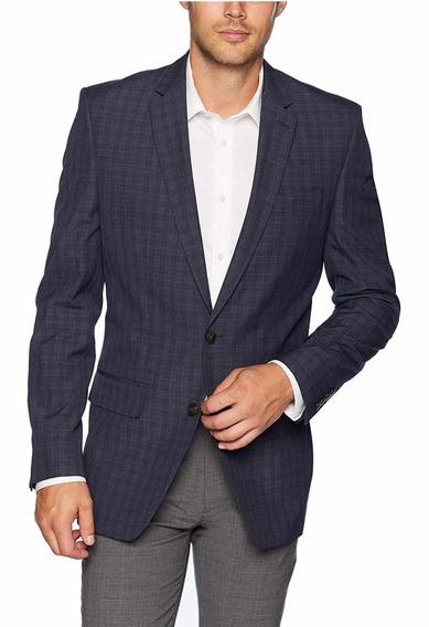 Haggar Blazer Slim Fit 38 Regular Sacó Casual Azul Talla M