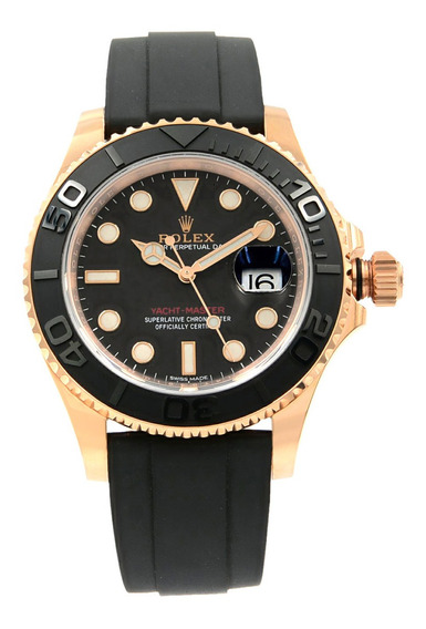 Rolex Yacht-master 116655 Black Dial 18k Rose Gold Automatic