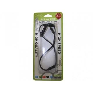 Cable Dual Para Audífonos Divisor De Audio A Jack 3,5 Mm