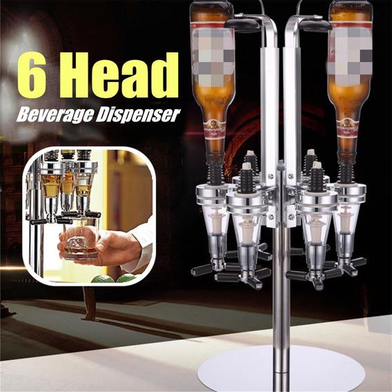6 Jefes Vino Cerveza Licor Bar Cóctel Botella Mesa Estar De