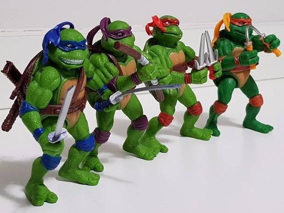 Kit 4 Bonecos Tartarugas Ninja 12 Cm Articulado