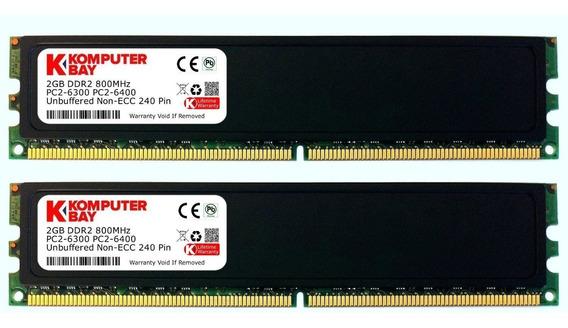 Memoria Ram 4gb Komputerbay (2x 2gb) Ddr2 800mhz Pc2-6300 6400 (240 Pin) Dimm 5-5-5-18 With Heatspreaders