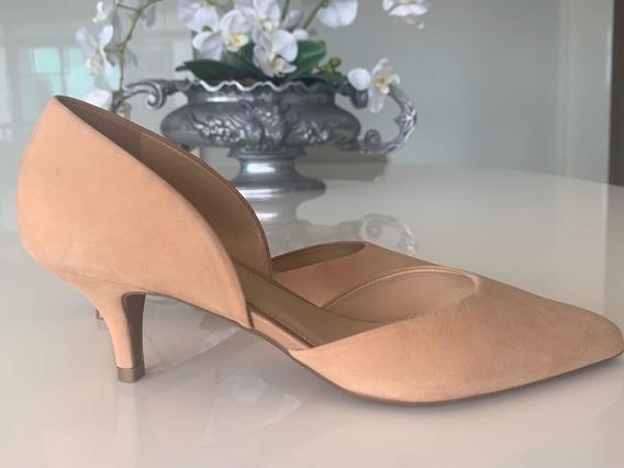Elegante Sapato Arezzo Bege - Salto Baixo - Tam 35