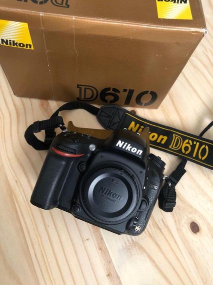 Câmera Nikon D610 Corpo + 1 Bateria Extra Semi Nova