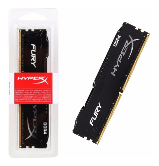 Memoria Ram 8gb Ddr4 2400mhz Kingston Black Hyper-x