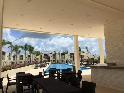 Departamento En Renta Sobre Huayacan Con Seguridad 3 Recamaras En Cancun Alberca Area De Niños