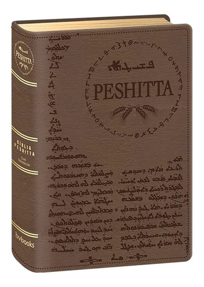 Bíblia Peshitta Luxo Marrom Traduçao Dos Antigos Manuscritos
