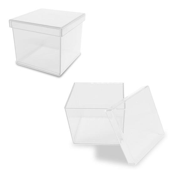 100 Caixinhas De Acrílico 5x5 Cm Lembrancinhas Preço Atacado