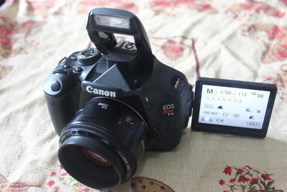 Canon T3i Corpo Com Lente 50mm Confira Mais Itens