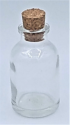 40 Frasco Vidro Garrafinha 24ml C/ Rolha Penicilina