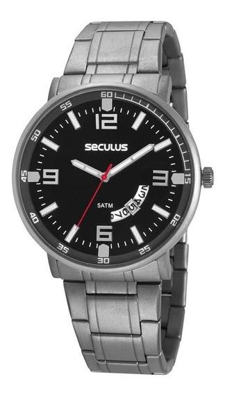 Relógio Seculus Masculino Ref: 20629g0svnt1 Slim Titânio