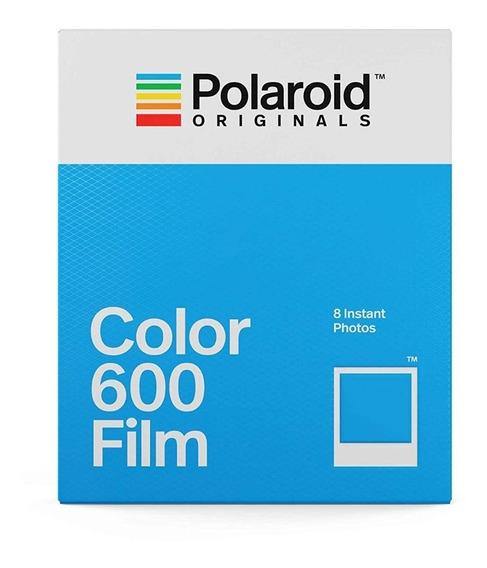 1 Filme / 8 Fotos Polaroid Original 600 Color Moldura Branca
