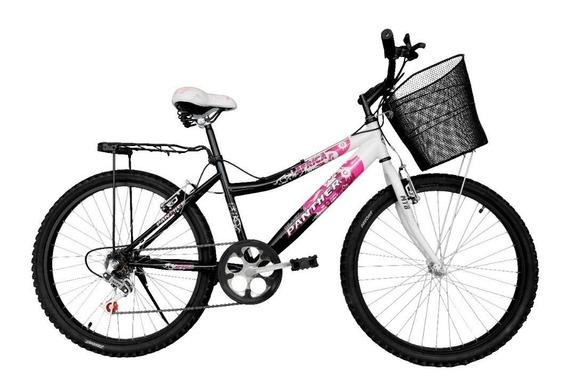 Bicicleta Lady África Rodada 24 Equipada 6 Velocidades Montaña