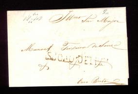 Carta Pré-filatélica Carimbo São João Del Rey - 1842 Pg