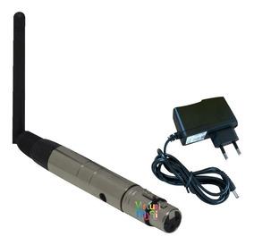 Antena Wireless Dmx Sem Fio 2,4 Ghz P/ Iluminacao Com Fonte