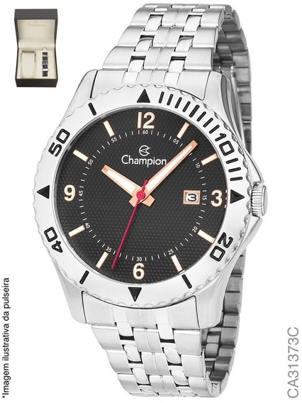 Relógio Champion Masculino Kit Pulseira Ca31373c