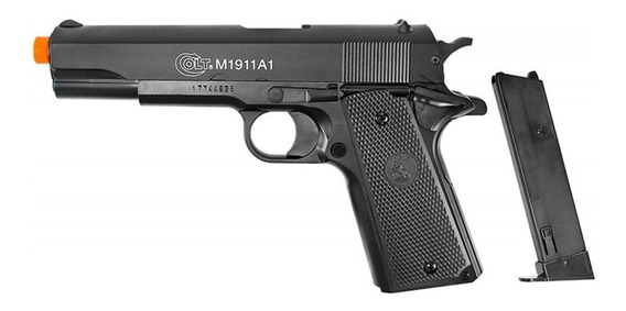 Pistola Airsoft Spring Colt 1911 Slide Metal 6mm Cybergun Cy