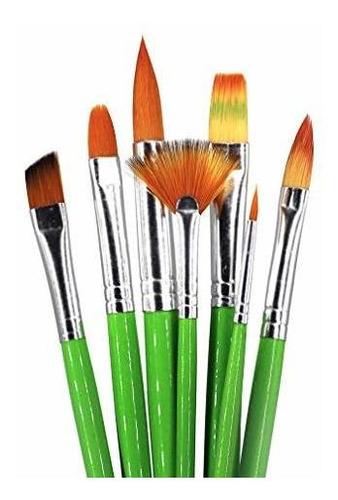 Imagen 1 de 5 de Set De Pinceles De Pintura Al Oleo Profesional De 7 Piezas S