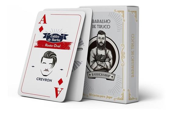 Atacado 100 Baralhos Truco Barbershop Barbearia Jogos Cartas