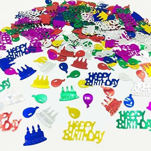 Imagen 1 de 6 de Feliz Cumpleaños Confeti Rocia Dispersa La Mesa Para La De