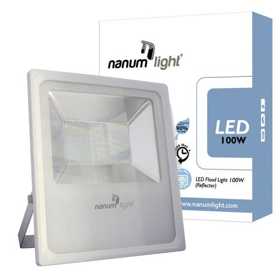 Reflector Led 100w (85-277v) Ip66 / 6500k Nanum Ligh