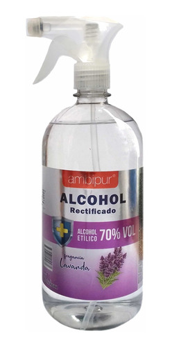 Alcohol Rectificado 70% Perfumado 1 Litro