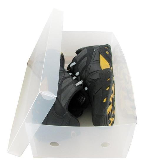 Caixa Transparentes Sapatos Masculinos ( Kit 15 Unidades )