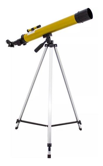 Telescópio Refrator Astronômico 600mm 50x 100x Com Tripe