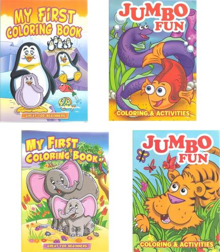 Imagen 1 de 7 de Libro Jumbo Preescolar Colorear / Iluminar Infantil Niños
