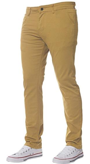 Pantalon De Hombre Gabardina Corte Intermedio No Chupin